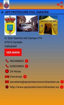 PROTECCION CIVIL ZARATAN poster