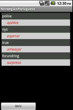 Norwegian Portuguese Dict apk screenshot