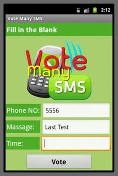 Vote Many SMS poster