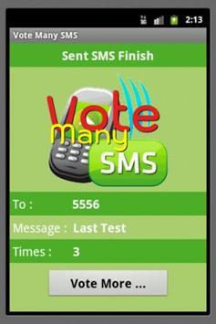 Vote Many SMS apk screenshot