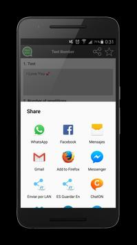 Text Bomber for Chats apk screenshot
