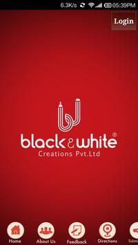 BLACK AND WHITE CREATIONS poster