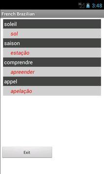 Brazilian French Dictionary apk screenshot