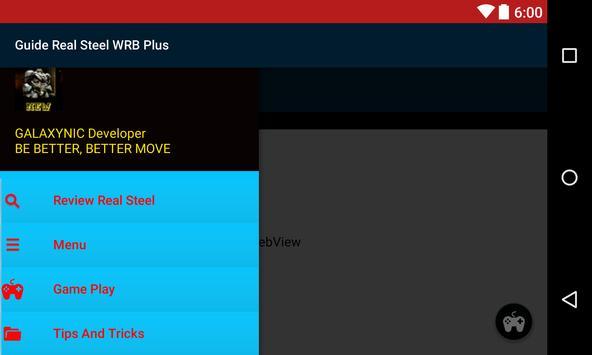 Guide Real Steel WRB Plus apk screenshot