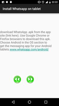 Install whatsapp on tablet poster