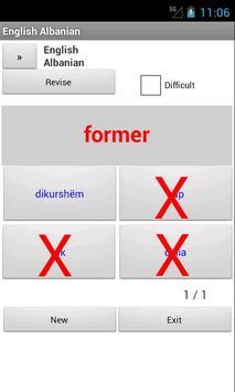 Albanian English Dictionary apk screenshot
