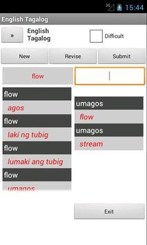 English Filipino Dictionary apk screenshot