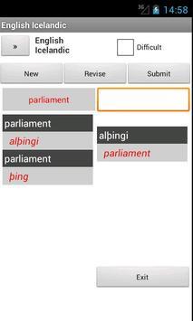 English Icelandic Dictionary apk screenshot