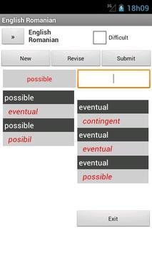 Romanian English Dictionary apk screenshot