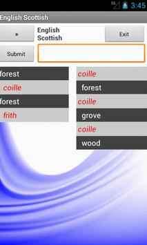 English Scottish Dictionary apk screenshot