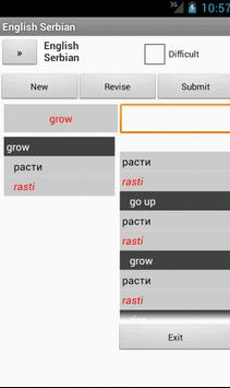 Serbian English Dictionary apk screenshot