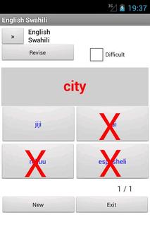 Swahili English Dictionary apk screenshot