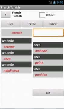 Turkish French Dictionary apk screenshot