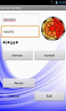 German Kurdish Dictionary apk screenshot