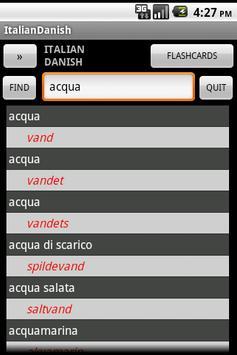 Italian Danish Dictionary poster