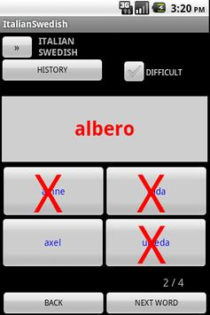 Swedish Italian Dictionary apk screenshot