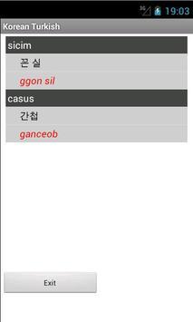 Korean Turkish Dictionary apk screenshot