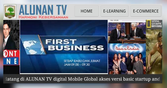 ALUNAN TV startup New Version apk screenshot