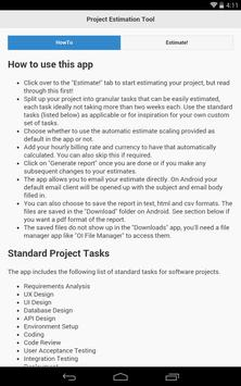 Project Estimation Tool poster