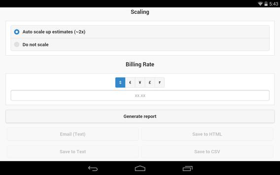 Project Estimation Tool apk screenshot