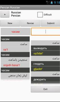 Russian Persian Dictionary apk screenshot