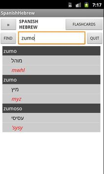 Spanish Hebrew Dictionary poster