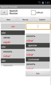 Spanish Russian Dictionary apk screenshot