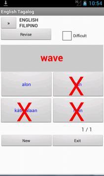 Filipino English Dictionary apk screenshot
