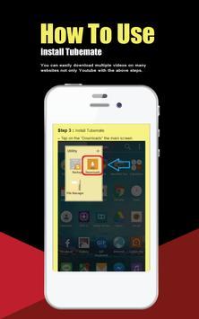 Guide free for TubeMate apk screenshot