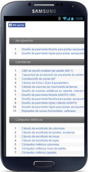 Hojas Excel Ingenieria Civil apk screenshot