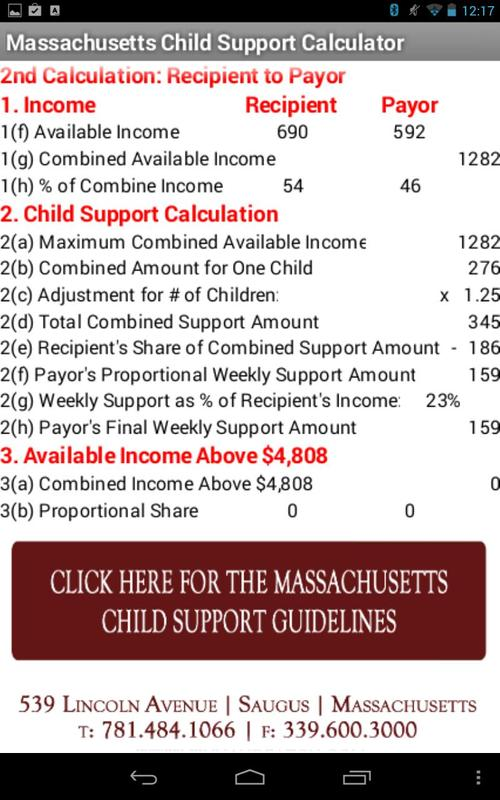 Printables Child Support Guidelines Worksheet Ma child support worksheet ma davezan calculator apk download free tools app for