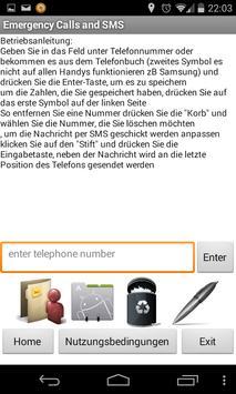 Emergency Calls and SMS FREE apk screenshot