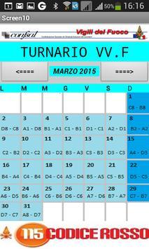 TURNARIO CONFSAL VV.F poster