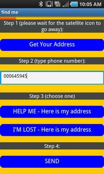 Find Me (young adult helper) apk screenshot