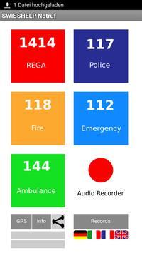 SWISS HELP Emergency Call poster