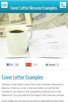 Cover Letter Examples apk screenshot
