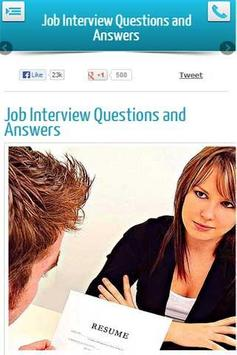 Job Interview Q and As poster