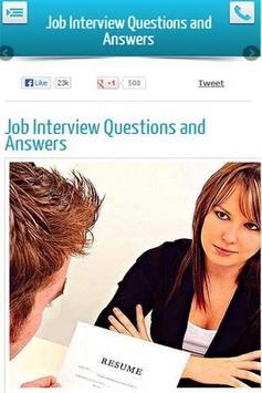 Job Interview Q and As apk screenshot