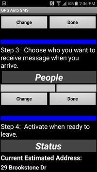 GPS Auto SMS apk screenshot