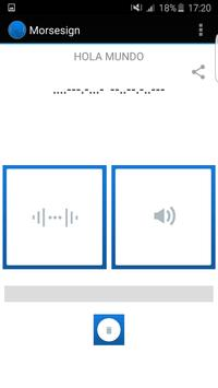 Morsesign apk screenshot