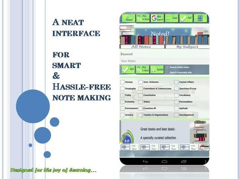 Noted! : A study notes app poster