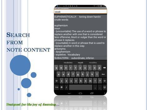 Noted! : A study notes app apk screenshot