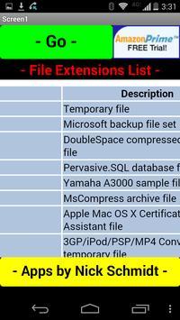 Complete File Extensions List apk screenshot