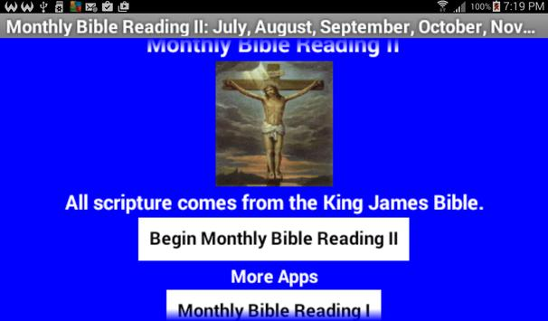Monthly Bible Reading II poster