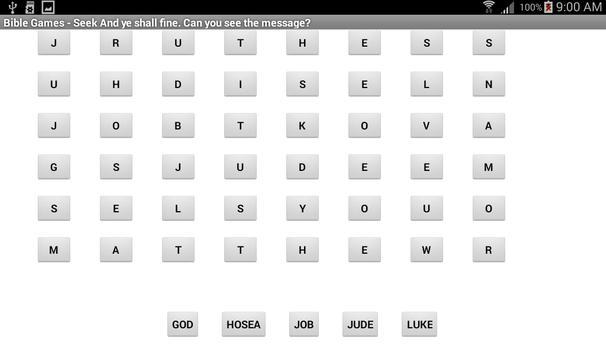 Bible Games 1 apk screenshot