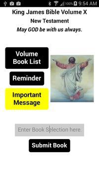 The King James Bible Volume X poster