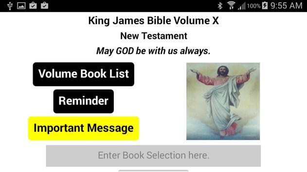 The King James Bible Volume X apk screenshot
