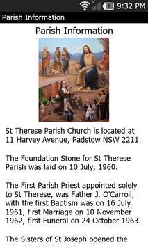 St Therese Parish, Padstow apk screenshot