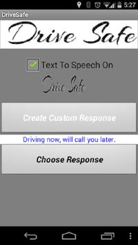 Drive Safe Auto Responder poster