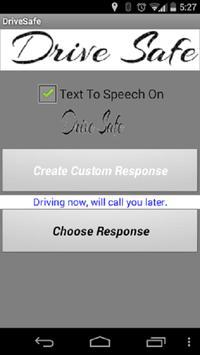 Drive Safe Auto Responder apk screenshot